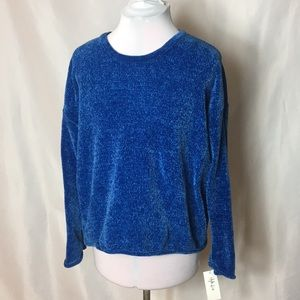 NWT blue chenille sweater